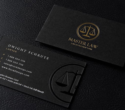 Gold - Silver Foil Visiting Cards Printing