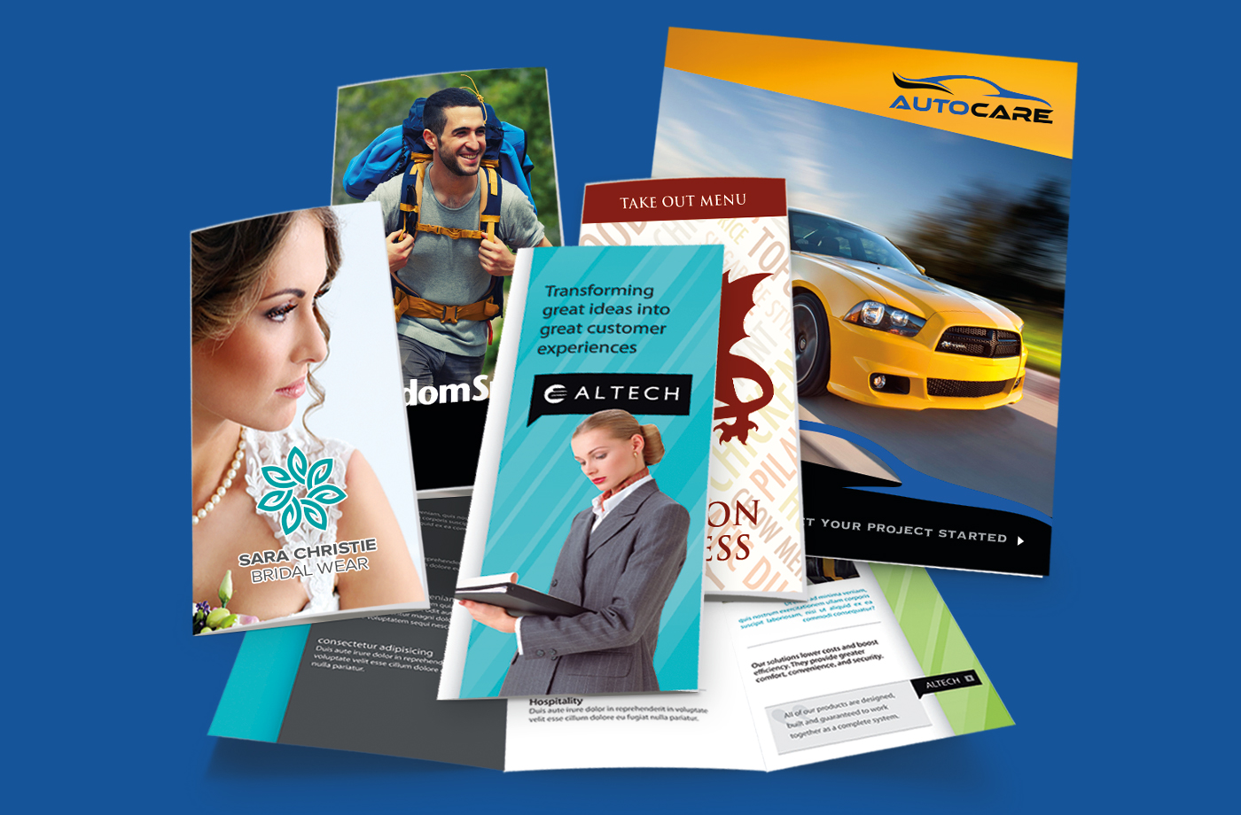 brochures printing with different types lamination & Folding in Hyderabad